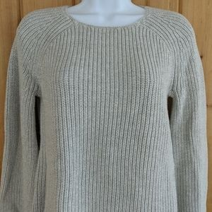 LOFT Ribbed Cuffed Thick Knit Sweater - S